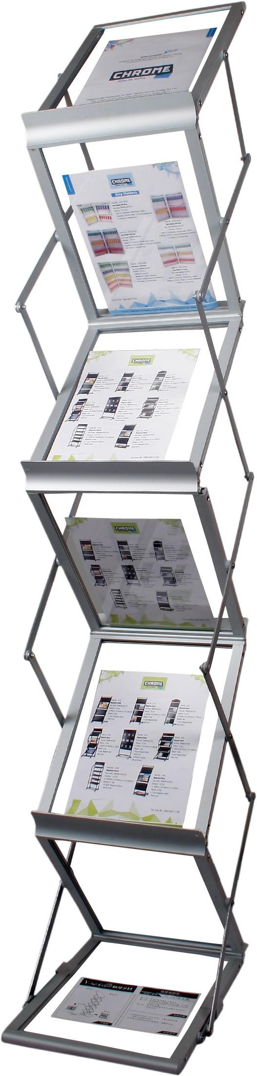 View Chrome 2361 Floor Standing Magazine Holder(Grey, Iron) Furniture (Chrome)