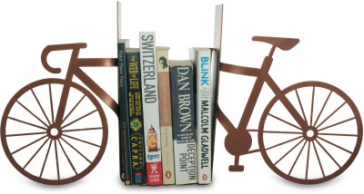 Glazer Metal Art Bicycle Copper Finish Table Top Magazine Holder