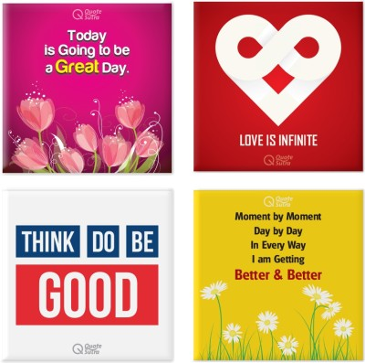 QuoteSutra QuoteSutra Positivity Inspiration Affirmation Fridge Magnets Set of Four Fridge Magnet