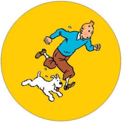 Fashion Fakir Tintin and snowy Fridge Magnet