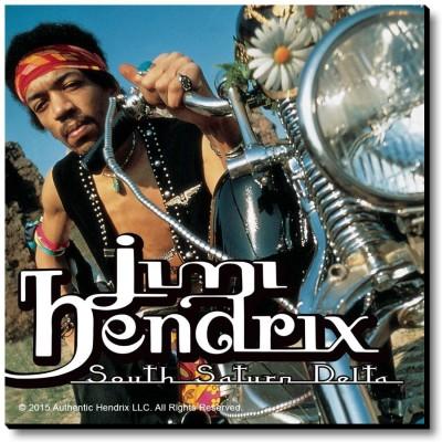 Bravado Jimi Hendrix Motorcycle Fridge Magnet, Door Magnet