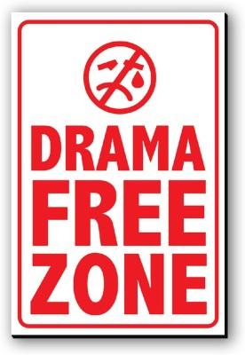 Seven Rays Drama Free Zone Fridge Magnet