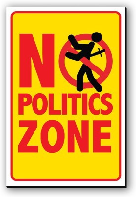 Seven Rays No Politics Zone Fridge Magnet