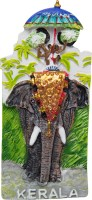 Temple Trees Decorated Elephant Fridge Magnet(Pack of 1, Multicolor)