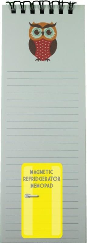 Nourish Regular Memo Pad(Owl - Magnetic Refrigerator, White)