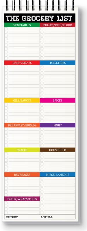 Nourish Regular Memo Pad(The Grocery List, White)