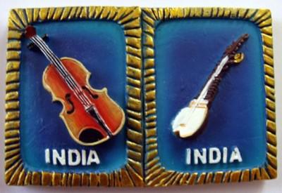 Temple Trees India Musical Instruments Fridge Magnet