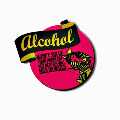 The Big Bag Theory Alcohol Milk Water Fridge Magnet