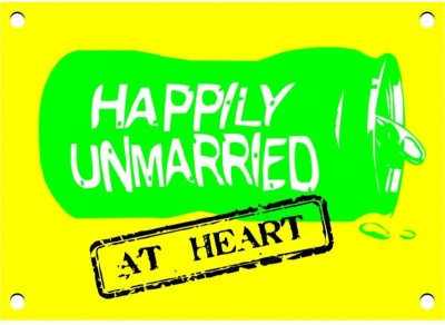 Happily Unmarried Medium Magnetic Sticker