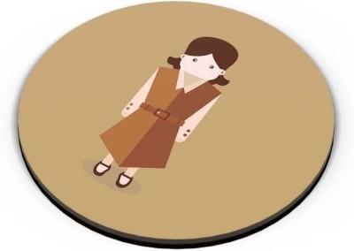 PosterGuy School Girl In Brown Uniform Illustration Art Fridge Magnet
