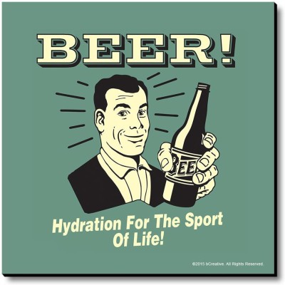 bCreative Beer! Hydration For The Sport Of Life! Fridge Magnet, Door Magnet