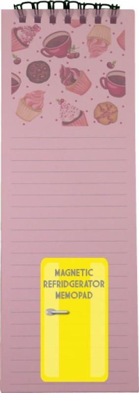 Nourish Regular Memo Pad(Cupcake Magnetic Refrigerator, Pink)