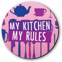 Seven Rays My Kitchen My Rules Fridge Magnet(Pack of 1, Multicolor)