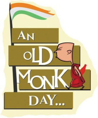 fashion fakir Old Monk Day Fridge Magnet