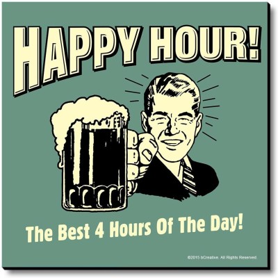 bCreative Happy Hour! The Best 4 Hours Of The Day! Fridge Magnet, Door Magnet