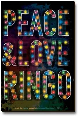 Bravado Peace Love and Ringo Fridge Magnet, Door Magnet