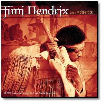 Bravado Jimi Hendrix Live At Woodstock Fridge Magnet, Door Magnet