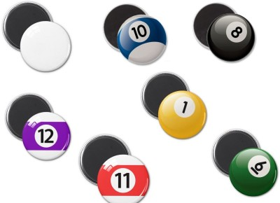 GeekGoodies Pool Ball Set of 7 Fridge Magnet