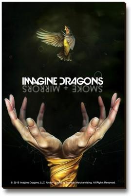 Bravado Imagine Dragons Smoke Mirror Fridge Magnet, Door Magnet