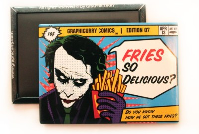Graphicurry Fries Fridge Magnet