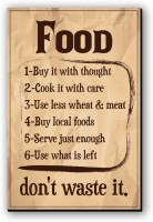 Seven Rays Food-Don't waste it Fridge Magnet(Pack of 1, Multicolor)