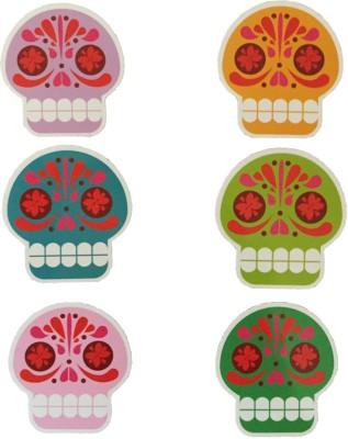 Kikkerland Usa Sugar Skull Fridge Magnet