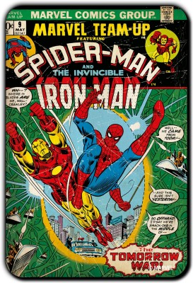 Marvel Spider-man - Iron man pack of 1 (Officially Licensed) Fridge Magnet