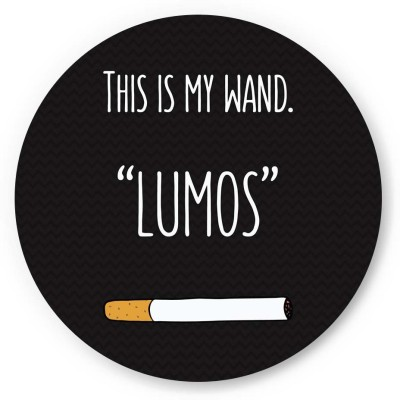 PosterGuy This Is My Wand Lumos Cigarette Funny Illustration Fridge Magnet