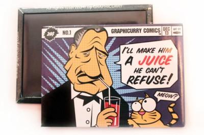 Graphicurry Juice Fridge Magnet