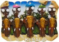 Temple Trees Kerala Pooram Elephant Fridge Magnet(Pack of 1, Multicolor)