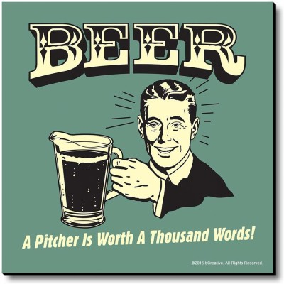 bCreative Beer A Pitcher Is Worth A Thousand Words Fridge Magnet, Door Magnet