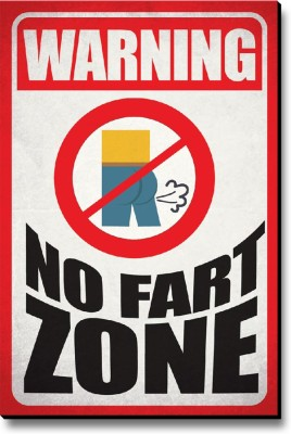 Seven Rays Warning No Fart Zone Fridge Magnet