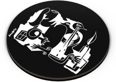 PosterGuy When You Cry, I Burn Illustration Painting Fridge Magnet(Pack of 1)