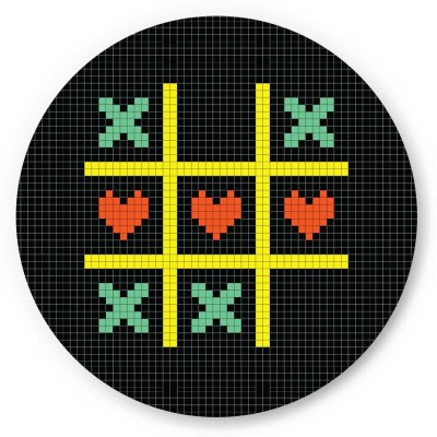 PosterGuy Tic Tac Toe Pixel Art Quirky Fridge Magnet