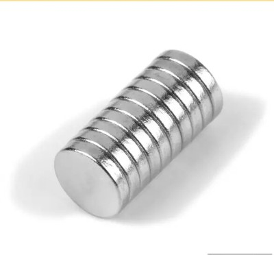 Neomag 8mm x 5mm Disc Shaped (50 pieces) NdFeB Grade N35- Ni Multipurpose Office Magnets(Pack of 50, Silver) at flipkart