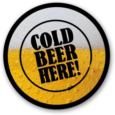 Seven Rays Cold Beer Here Fridge Magnet