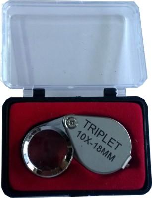 Triplet Silver 10x Eye Loupe