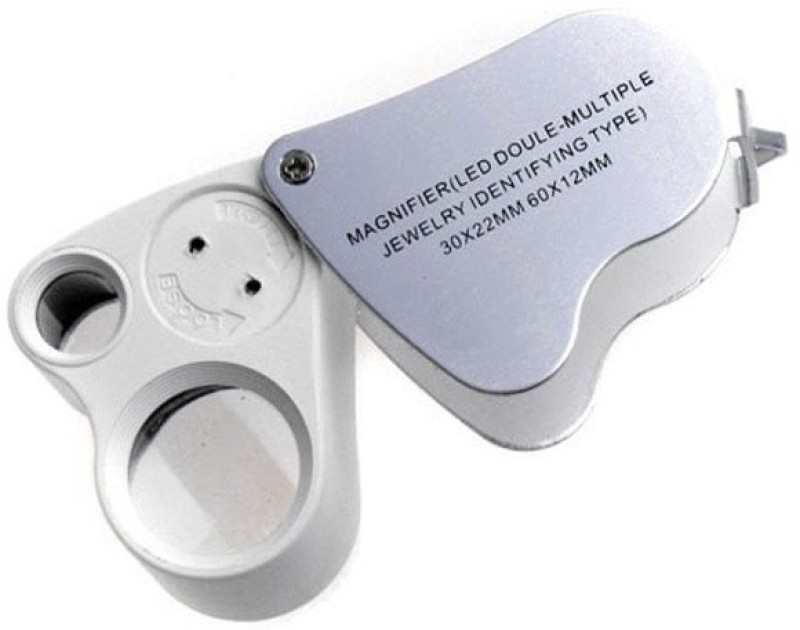 Star Magic Dual Loupe 30X60X Magnifying Glass(White)