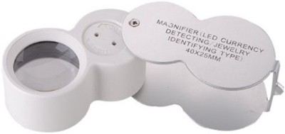 Pia International Magnifier Loupe With Uv & Led 40X Magnifying Glass