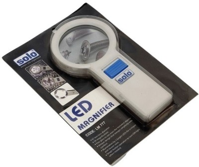 Solo Led Magnifier 3 X Magnifying Glass(White)