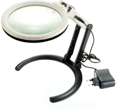 Pia International Ac/Dc Desktop 1.8X 5X Magnifying Glass