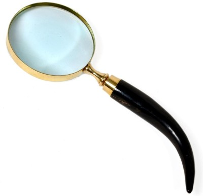 ufc mart Real Brass With Wooden Handle 3X Magnifying Glass