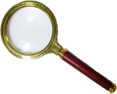 Neo Gold Leaf Brass 3x Magnifying Glass