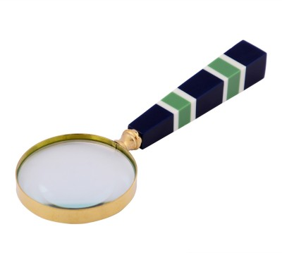 Indigocart Antique Style Big Brass Magnifying Glass Maritime Gift-Small 3.5X Magnifier Glass