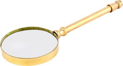 Artshai Golden Brass Magnifier 4x Magnifying Glass