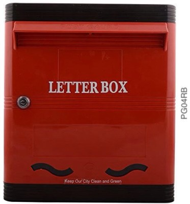 Lamba's PG04RB Wall Mounted Mailbox(RED-BLACK)