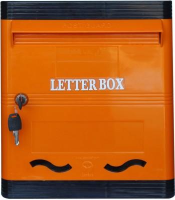 Lamba's Wall Mounted Mailbox(Orange-Black)
