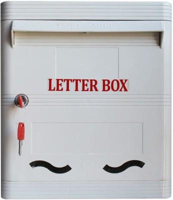 Lamba's Wall Mounted Mailbox(WHITE AND WHITE)