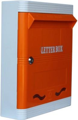 Lamba's Wall Mounted Mailbox(Orange-White)