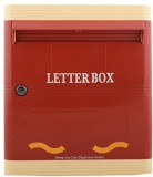 Lamba's Wall Mounted Mailbox (Red-Ivory)